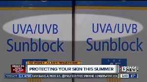 News video: Importance of applying suncreen to protect your family from skin cancer