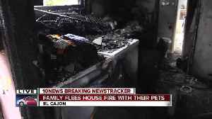 Family, pets escape house fire in El Cajon