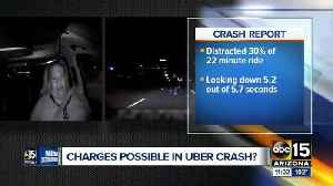 Backup Uber driver watching TV before fatal crash