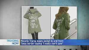 Melania Trump Wears Controversial Jacket Heading To Immigrant Housing For Children, Trump Responds