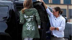 Stephen Colbert Jokes About Melania Trump's Tone Deaf Jacket