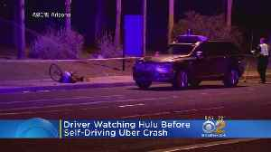 Uber Driver Was Watching TV When Car Hit Woman