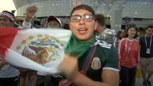 Mexican fans rejoice after victory over South Korea