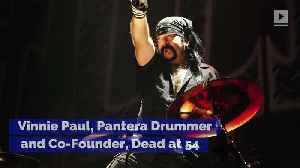 Vinnie Paul, Pantera Drummer and Co-Founder, Dead at 54 [Video]