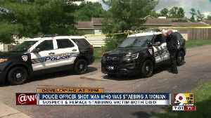 PD: Officer shot man who was stabbing woman