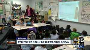 Teachers back to rallying at state capitol