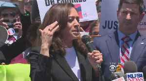 Sen. Harris 'Disturbed' By What She Saw At Immigration Detention Center