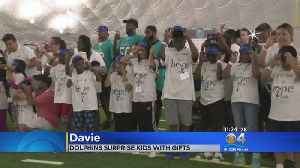 Miami Dolphins Surprise Underprivileged Kids At Their Practice Facility