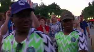 Nigerians euphoric after beating Iceland in Volgograd