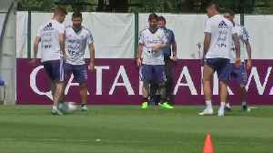 Argentina train, hoping to scrape into the second round