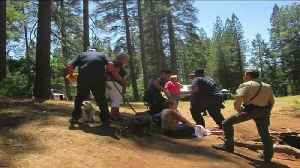 News video: `I Just Did the Best That I Could:` Hiker Rescues Drowning Woman in Northern California
