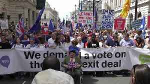 Thousands march through London to oppose Brexit