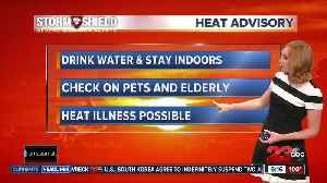News video: Heat advisory continues in valley through Sunday