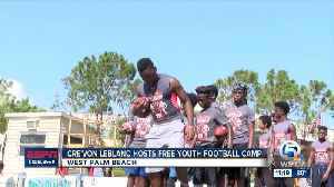 Cre'von LeBlanc hosts free football camp at Keiser University