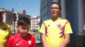 Colombian and Polish fans go to church before crucial game [Video]