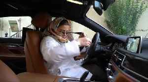 News video: Saudi women hit the road as driving ban is lifted