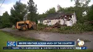Severe weather across much of the country
