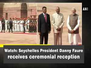 Watch: Seychelles President Danny Faure receives ceremonial reception