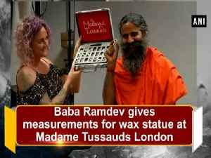 Baba Ramdev gives measurements for wax statue at Madame Tussauds London