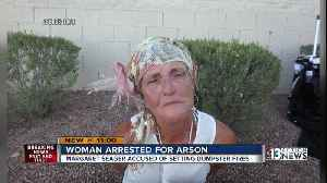 57-year-old woman arrested for arson after dumpster fire spreads to vacant building