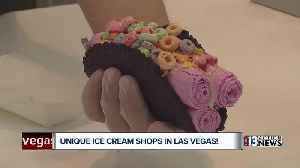 Unique ice cream shops in Las Vegas serve up waffle tacos, chimney cakes, and more