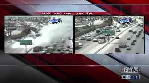 Vehicle fire closes lanes on northbound U.S. 95, near Charleston