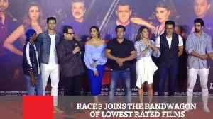 Race 3 Joins The Bandwagon Of Lowest Rated Films [Video]