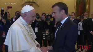 French President Macron Meets Privately With Pope Francis at Vatican [Video]