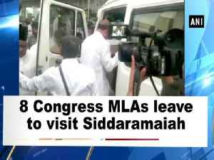 8 Congress MLAs leave to visit Siddaramaiah [Video]