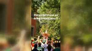 Mexico fans party outside Korea embassy [Video]