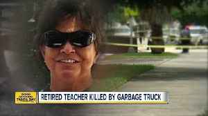 Retired teacher killed by Tampa garbage truck [Video]