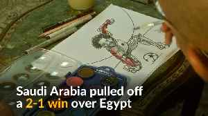 Egyptian artists use caricatures to depict World Cup defeat [Video]