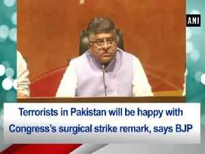Terrorists in Pakistan will be happy with Congress's surgical strike remark, says BJP [Video]