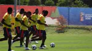 Cafeteros train a day after qualifying for the round of 16 where they will meet England [Video]