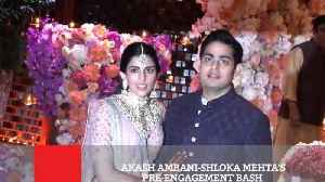 Akash Ambani Shloka Mehta's Pre Engagement Bash [Video]