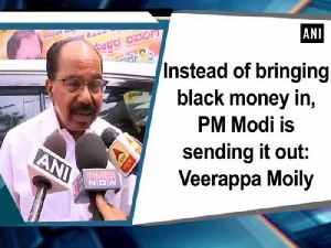 Instead of bringing black money in, PM Modi is sending it out: Veerappa Moily [Video]