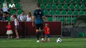 Scoring at World Cup is child's play for Spanish striker's son [Video]