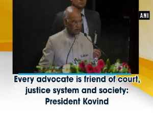 Every advocate is friend of court, justice system and society: President Kovind [Video]