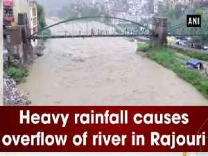 Heavy rainfall causes overflow of river in Rajouri [Video]