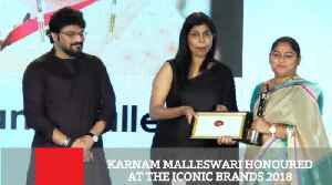 Karnam Malleswari, the first Indian woman to win an Olympic medal in the 2000 Sydney Olympic, was honoured at the 2018 Iconic Br [Video]