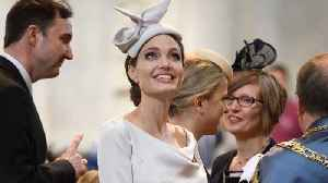 Angelina Jolie Channeled Meghan Markle's Royal Style At The Service Of Commemoration And Dedication Of The Most Distinguished Or [Video]