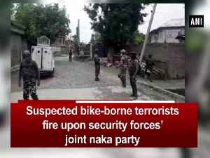 Suspected bike-borne terrorists fire upon security forces' joint naka party [Video]