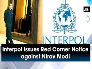 Interpol issues Red Corner Notice against Nirav Modi [Video]