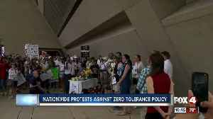 Texas residents protest against the Trump's administrations Zero Tolerance Policy [Video]