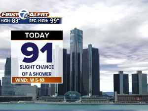 News video: Metro Detroit Forecast: More 90s this week