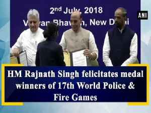 HM Rajnath Singh felicitates medal winners of 17th World Police & Fire Games [Video]