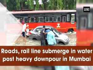 Roads, rail line submerge in water post heavy downpour in Mumbai [Video]