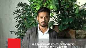 Irrfan Khan Honoured With Special Icon Award [Video]