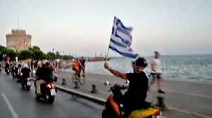 Thousands of Thessaloniki bikers protest Macedonia name deal [Video]