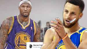 Steph Curry Reacts to DeMarcus Cousins JOINING the Warriors! [Video]